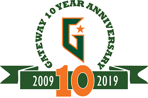 10th anniversary logo at Gateway
