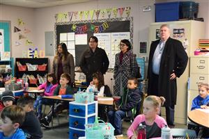 TCSA visitors look in on a Gateway classroom